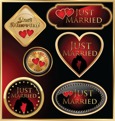 Just married golden labels