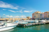 harbor view of Saint-Tropez, french riviera