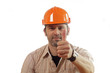 Construction worker with thumb up