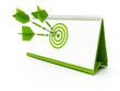 calendar, green target