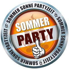 Sommer Party - Sommer Sonne Partyzeit - Button
