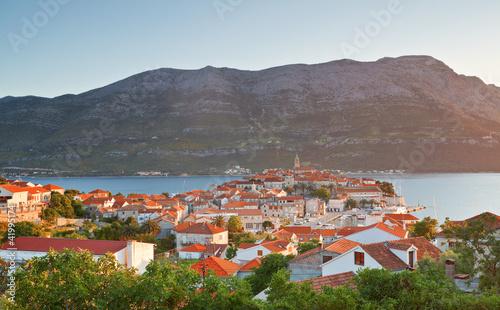 cityscape of Korcula. Croatia