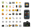 media & multimedia web icons collection