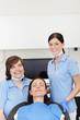 patientin und zahnarzthelferinnen
