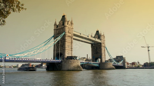 tower bridge, london, at sunset