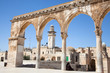 Pillars  of Temple Mount (Har Ha-Bayit) in Old City of Jerusalem