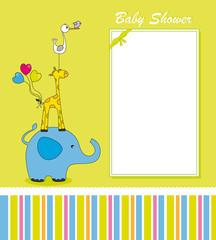 Tarjeta postal con divertidos animales