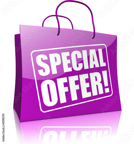 shopping bag SPECIAL OFFER, purple