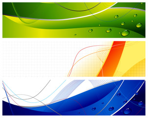 abstract web banners set