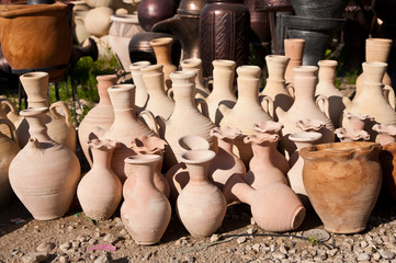 variety of pottery in middle east markets