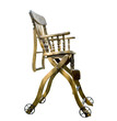 antique foldable wooden highchair,isolated