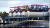 Plant for processing of associated oil gas. Tankers.