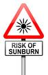 Sunburn risk concept.