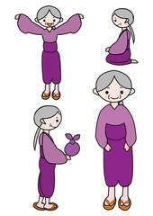 キャラクター おばあさん grand mother