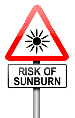 Sunburn risk concept.