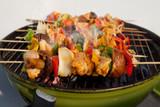 BBQ barbecuing skewers kebab