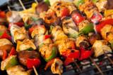 Fototapety BBQ barbecuing skewers kebab