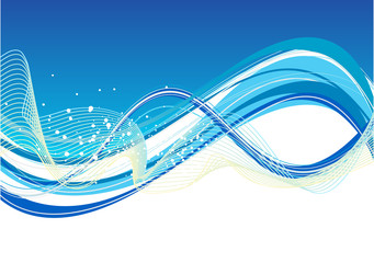 abstract blue based wave background