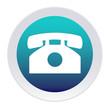 Bouton bleu et blanc téléphone