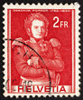 Постер, плакат: Postage stamp Switzerland 1941 Colonel Joachim Forrer of New St