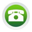 Bouton vert et blanc téléphone