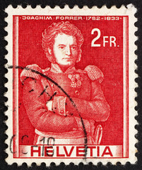 Postage stamp Switzerland 1941 Colonel Joachim Forrer of New St.