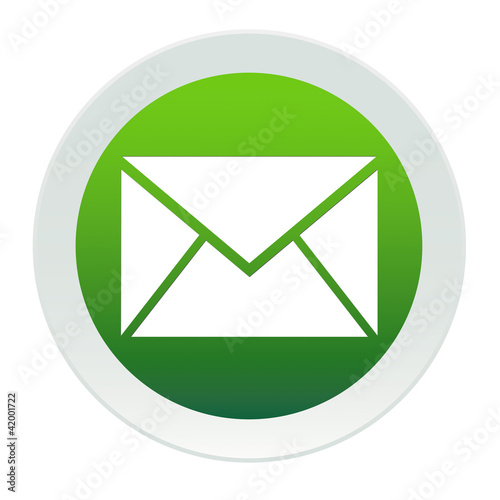 Bouton vert et blanc mail