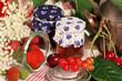 Mamelade, Glas und Obst