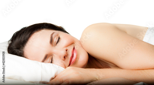 canvas print picture Beautiful woman sleeping
