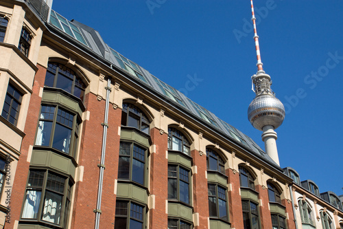 Old building with television tower