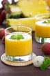 Lychee,Pineapple and Mango smoothie