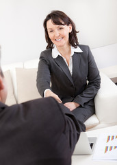 Mature businesswoman at the interview