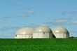 Three BioGas tanks.
