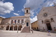 main square of Norcia, Umbria, Italy