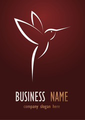 Business logo brown bird desing