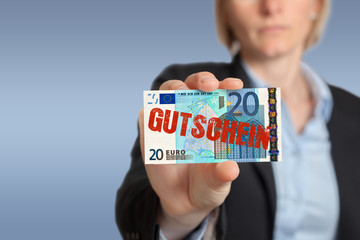 20 Eur Gutschein, business