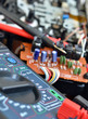 Technology background, digital multimeter close up