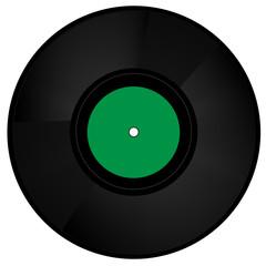 Schallplatte grün