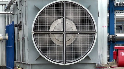 A huge fan at Gas processing plant.