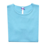Folded cyan woman sweater