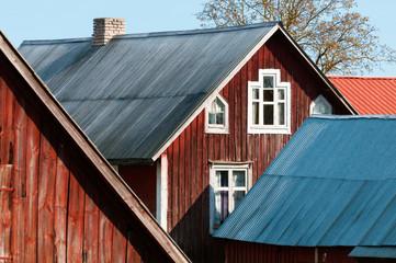 Ländliche Architektur in Schweden