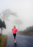Misty morning run