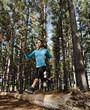 jumping trail runner