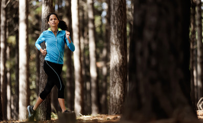 trail running forest