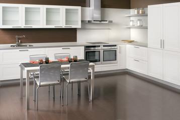 Modern white kitchen interior design - COCINA DISEÑO