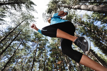 jumping trail runner