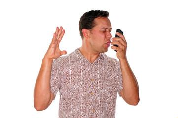 Angry phone call