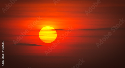 Fototapeten,sonne,wolken,abenddämmerung,rot