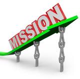 Team Lifting Mission Word on Arrow Job Accomplished poster