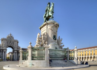 Praça do Comércio (Commerce Square), Lisbon, Portugal.